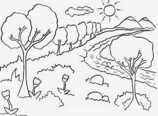Belajar Mewarnai Pemandangan Alam Terbaru