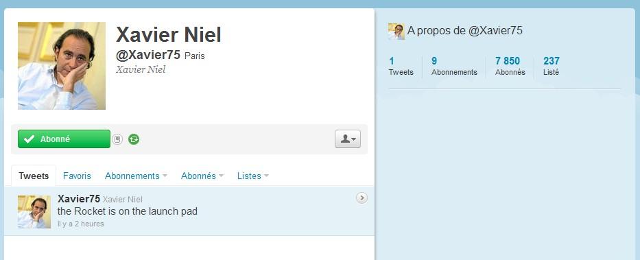 Compte Twitter de Xavier NIEL - FREE