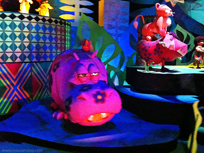 Disneyland Small World hippo Pumbaa Simba animals additions