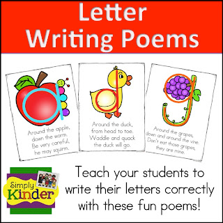 Letter and number writing poems simply kinder letter and number writing poems spiritdancerdesigns Images