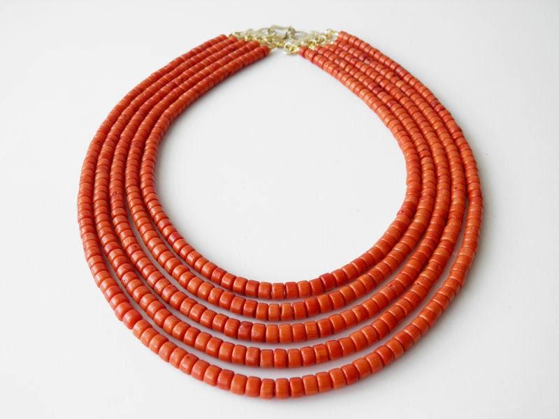 biżuteria góralska, korale góralskie, ekokoral, korale z korala korale ludowe kolor jak koral naturalny