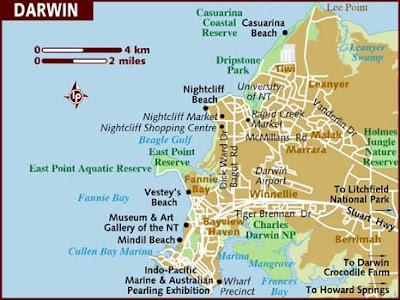 Дарвин на карте