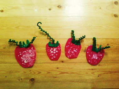 Strawberry magnets.