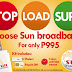 Sun Broadband Prepaid kit now P995 only