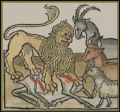 Il leone sbrana