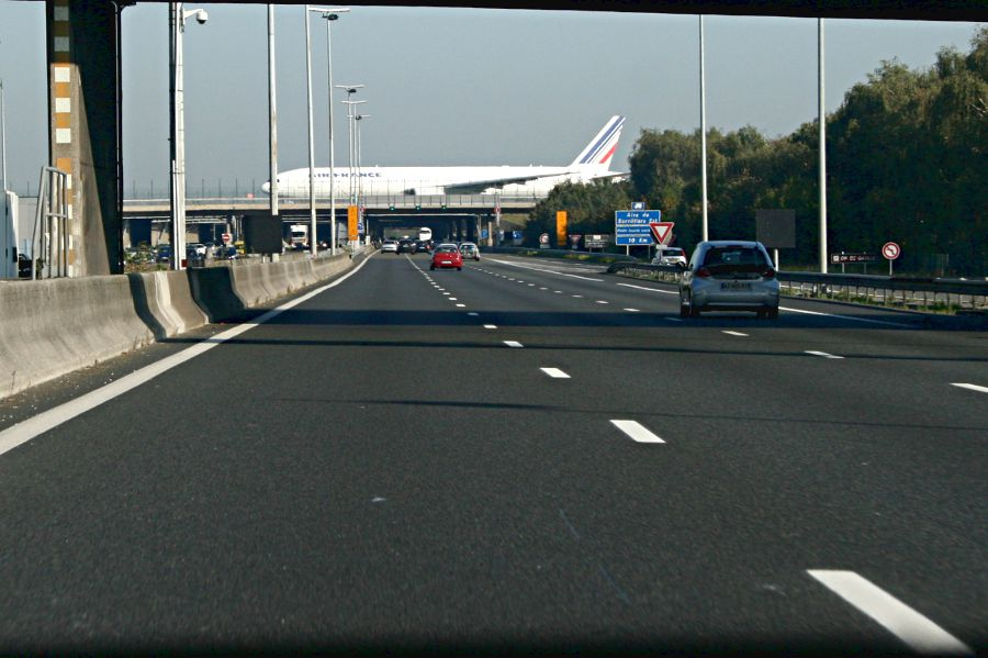 aeroplane on a bridge