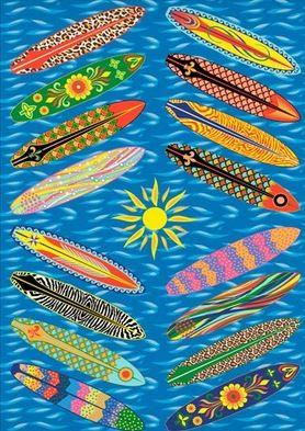 go surfing rug