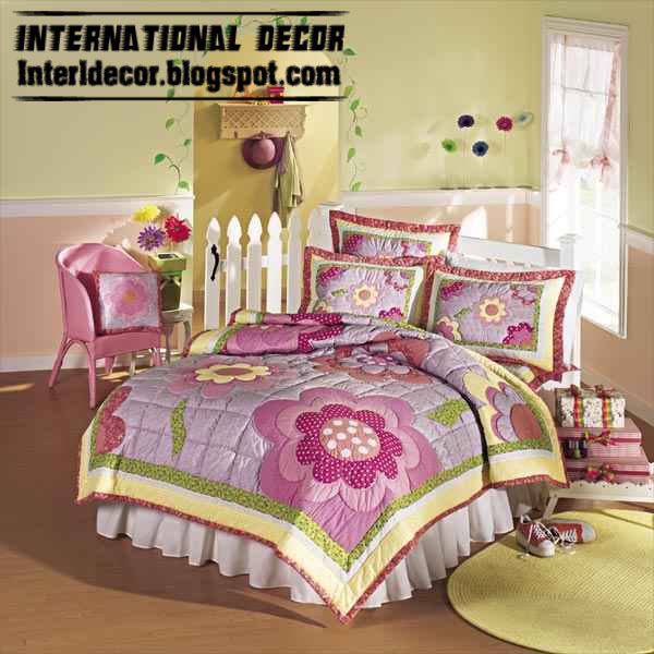 Modern girls bedroom ideas with stylish girls bedding models colors international decoration - Modern bedroom for girls ...