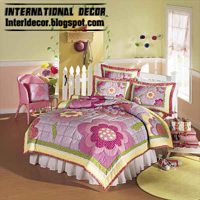 flower girls bedding, modern girls bedding, flower girls bedspread