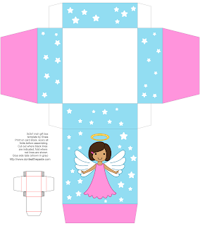Free printable angel box- other colors available!