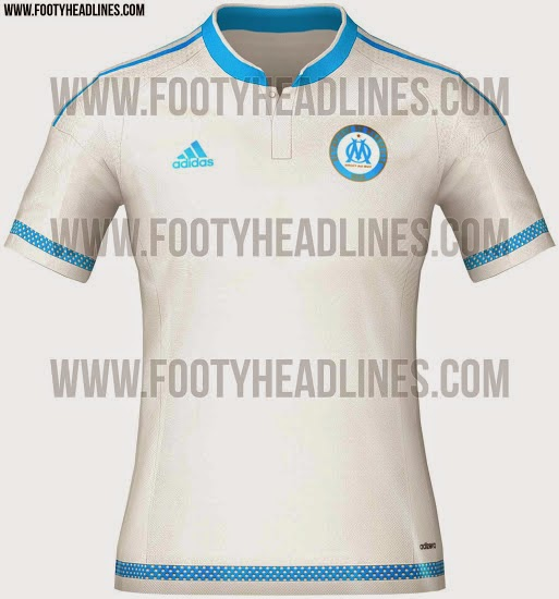 gambar photo kamera Jersey Olympique Marseille home musim depan 2015/2016