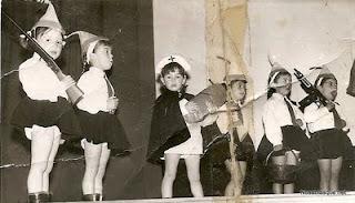 niñas de Candelario Salamanca actuando en una gala a favor de las Hermanitas de Bejar