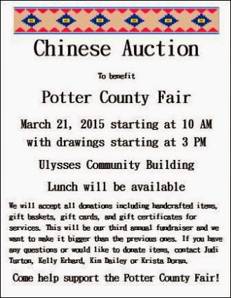 3-21 Chinese Auction Benefits Potter County Fair