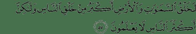 Surat Al Mu'min Ayat 57