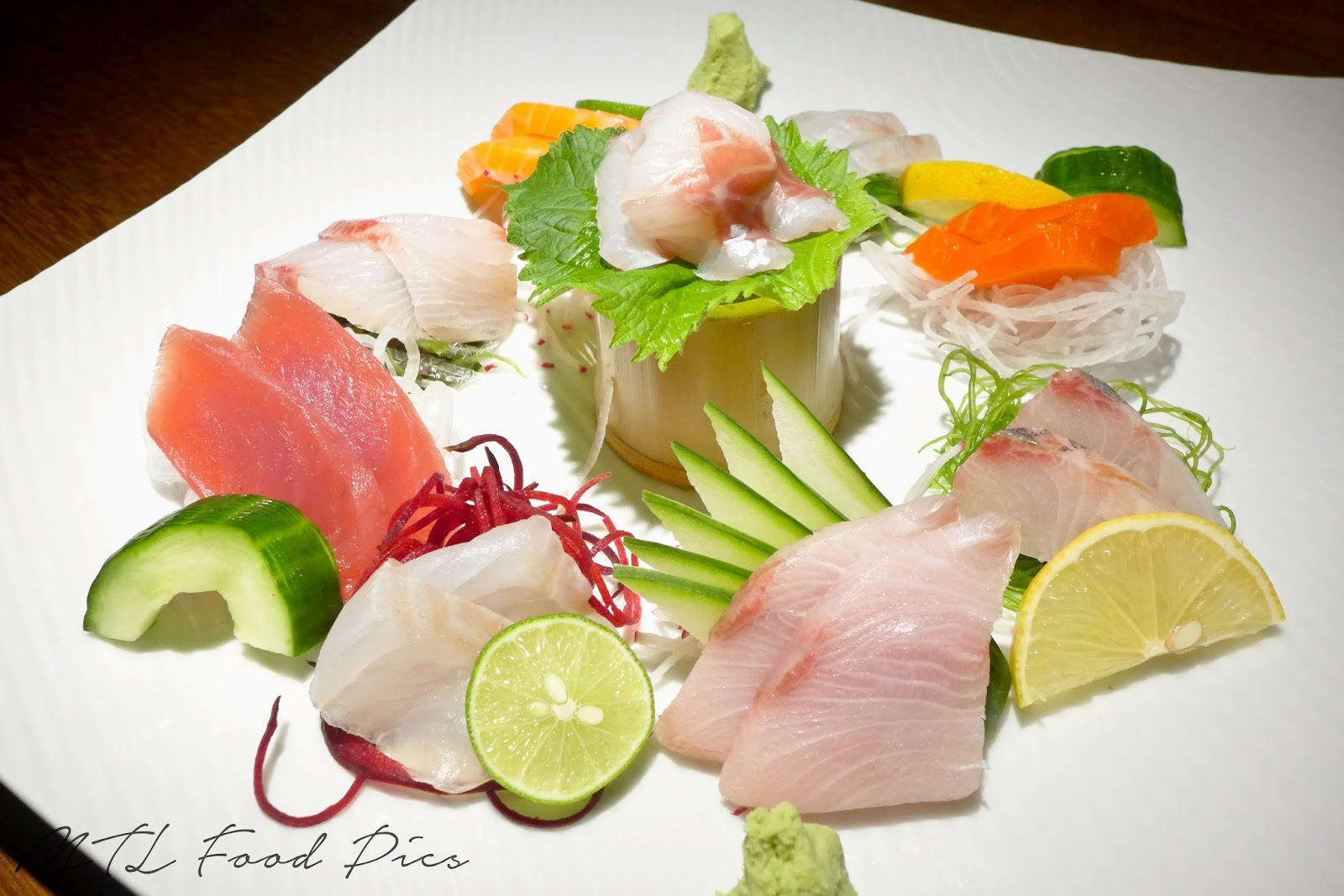 Sashimi Platter - Shinji Montreal
