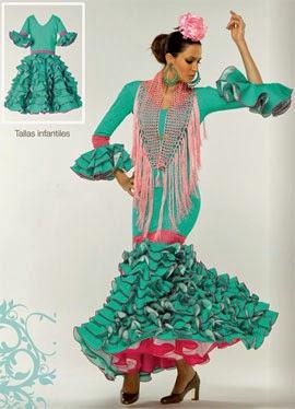 traje de flamenca niña El Corte Inglés 2014