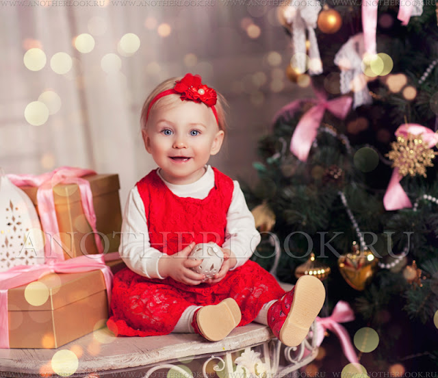 девочка у елки фотосессия