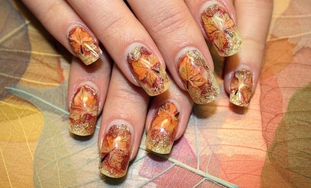 Дизайн ногтей осень на короткие ногти