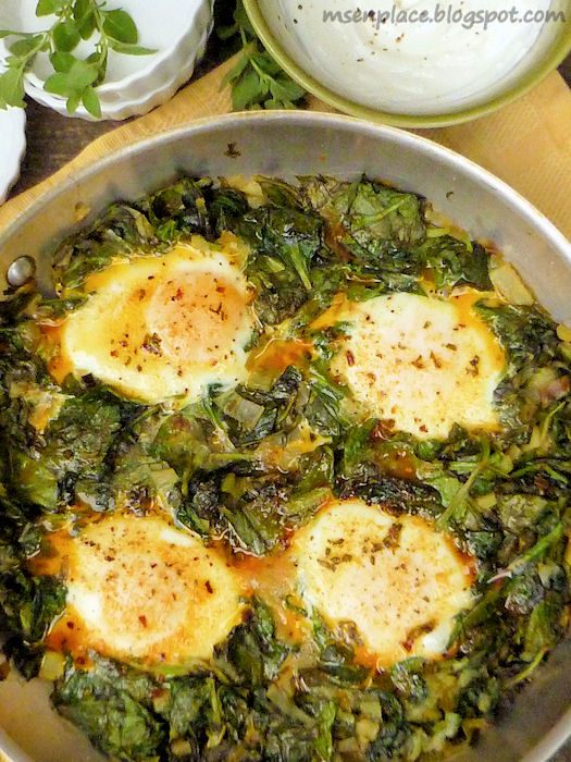 The dish I suffered for? Baked Eggs with Spinach & Yogurt from Plenty ...