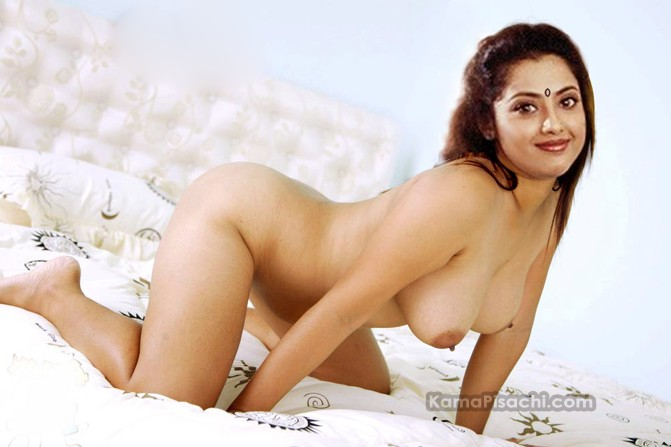 Actress Meena Nude In Bed Fake