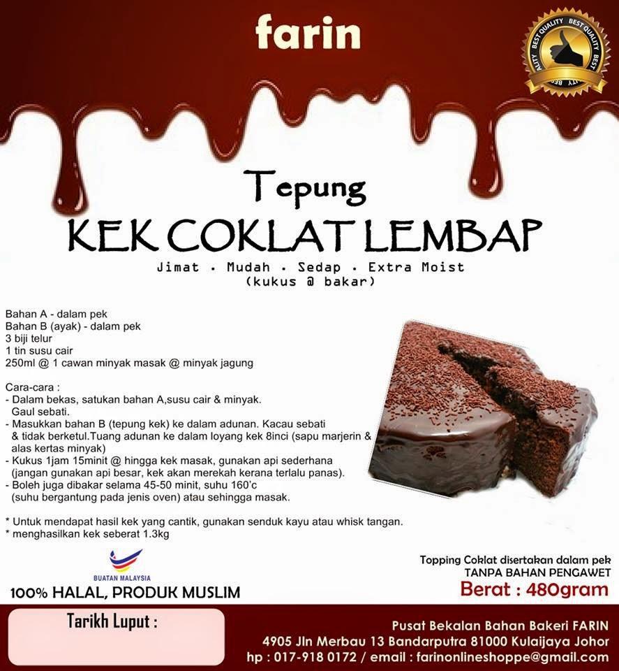 Kek Coklat Lembap (moist)