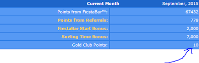 Gold Club Point Cash Fiesta