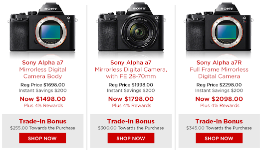 sony a7r deal discount trade