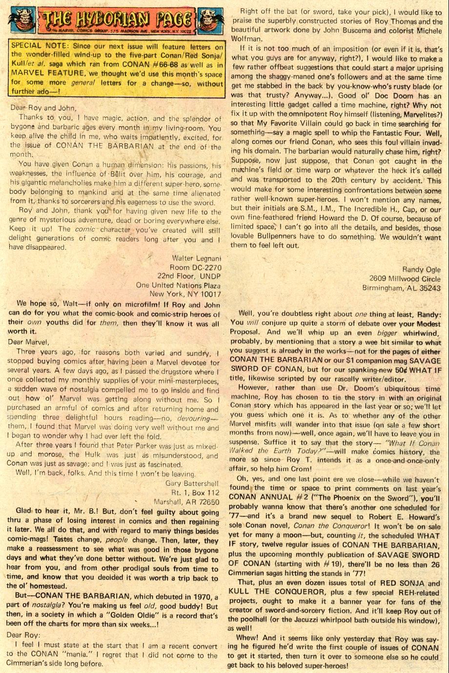 Conan the Barbarian (1970) Issue #71 #83 - English 20