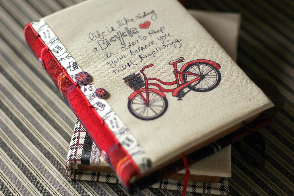Блокнот с нуля, красный велосипед, британский флаг, Англия