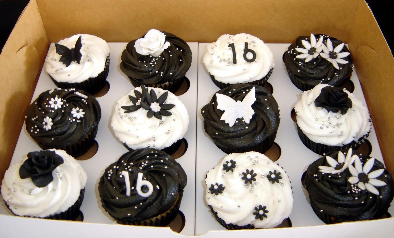 Black And White Cupcake Images : Cake till u drop: Black and white cupcakes