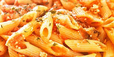 recetas de cocina macarrones con tomate y albahaca
