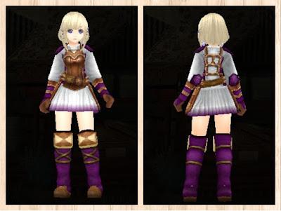 レザーアーマー・紫1&白3