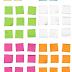 +300 Imágenes y vectores: post-it, banners, listones, burbujas, etc