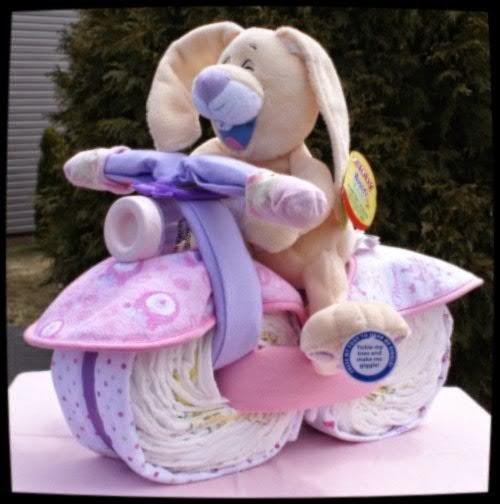Велосипед из памперсов пошагово фото для мальчика
