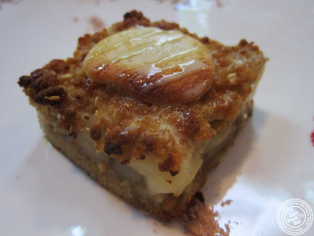 image of asian pear crumble at Bann Korean restaurant in NYC, New York