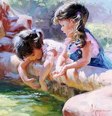 niñas-en-jardin