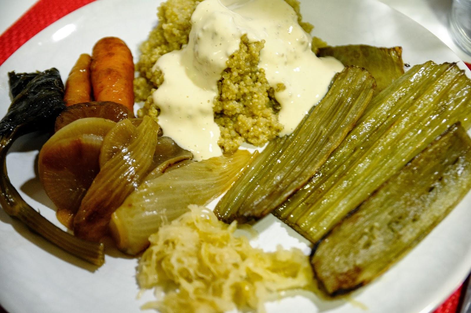 Estofado de verduras con quinoa y cardo gratinado cocinar para nutrir - Cocinar quinoa con verduras ...