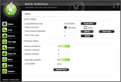 Free Antivirus Software For Microsoft Windows OS | Amiti Antivirus