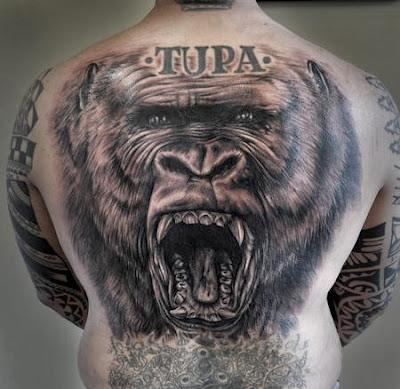 Tatuagem de Gorila nas Costas