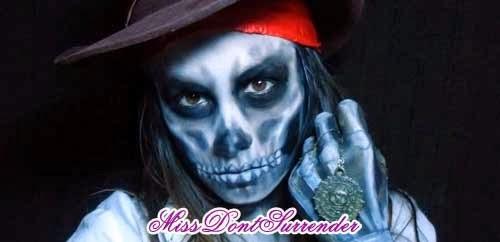 maquillaje para disfraz de pirata maldito
