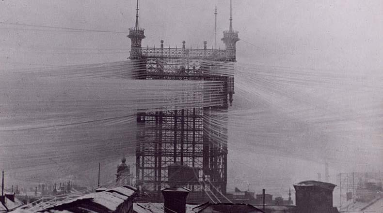 Hace 100 años esta torre de teléfono en Estocolmo conectaba 5.000 líneas telefónicas