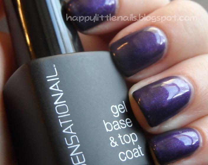 Happylittlenails Sensationail Gel Nails Purple Orchid