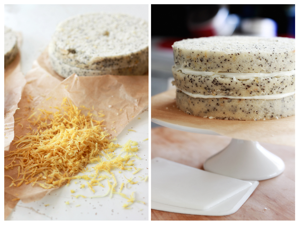 ... With Butter: Lemon Poppy Seed Cake with Lemon Cream Cheese Frosting