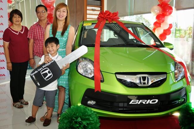 Honda's Drive the Holiday Spirit raffle winner