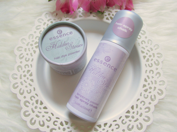 essence Hidden Stories - Hair Dye Powder 02 Enchanted by Hint of Mint - 4,5g - Preis ?  &  essence Hidden Stories - Hair Spray Chalk 02 Mauve-llous Fairy