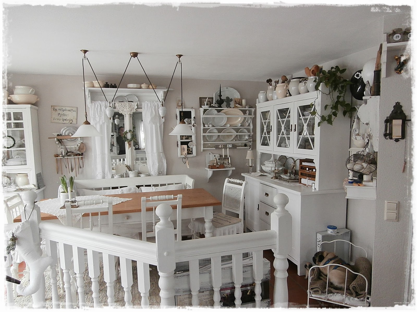 shabby landhaus vorher nachher k che esszimmer. Black Bedroom Furniture Sets. Home Design Ideas