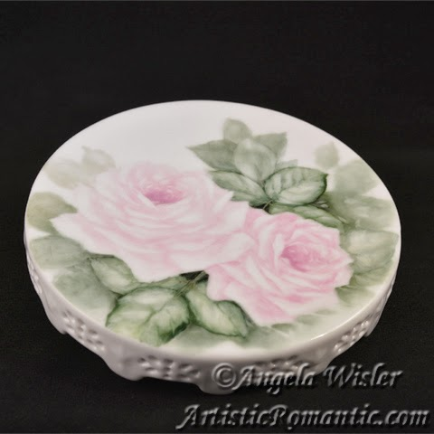 Porcelain Painting Pink Roses Second Fire