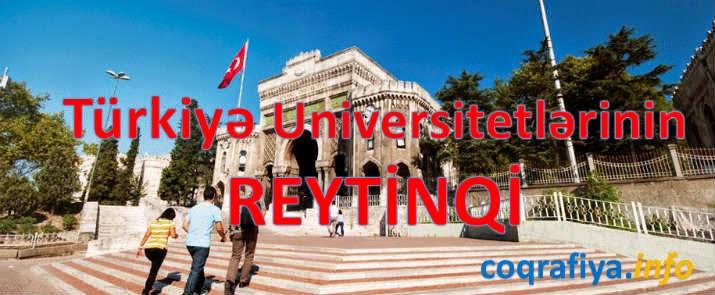 Türkiyə Universitetlərinin dünya üzrə Reytinqi