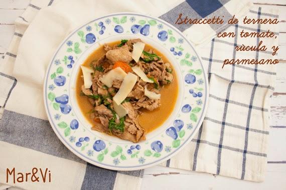 Cocina italiana, straccetti de ternera