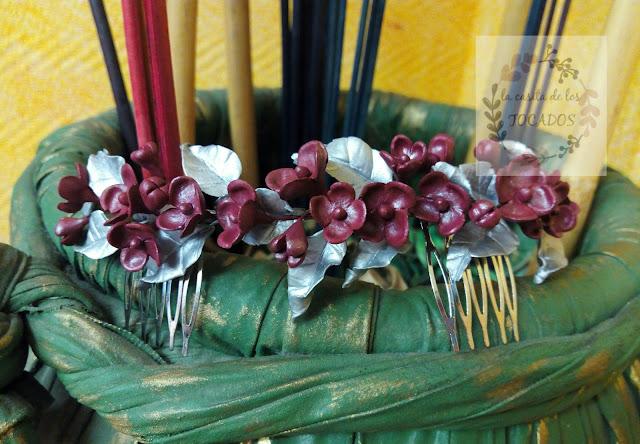 semicorona para novia vintage realizada artesanalmente